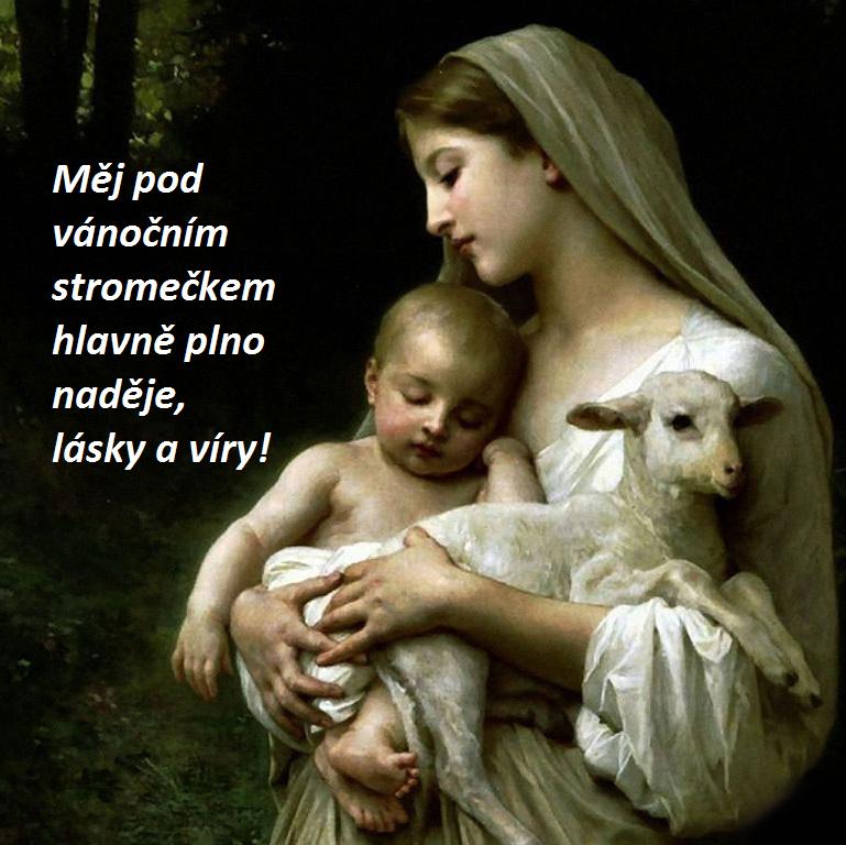 SMS vánoční přání: Marie, Ježíšek a beránek