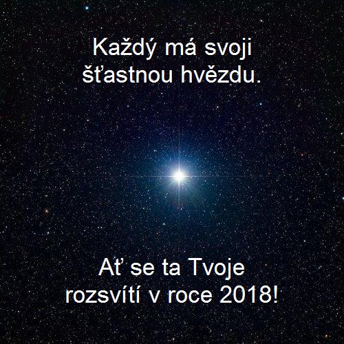 Novoroční přání 2018 - hvězda
