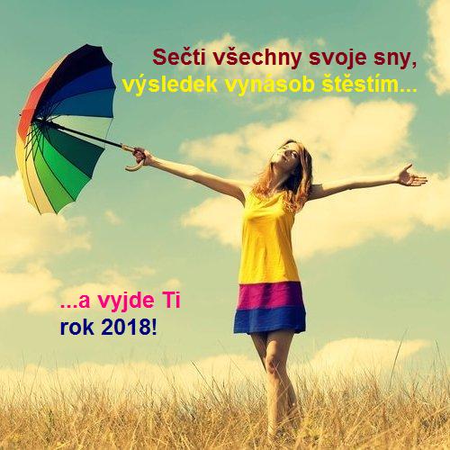 Novoroční přání 2018 - štěstí