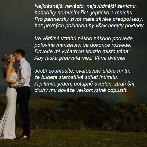 Svatební přání - text