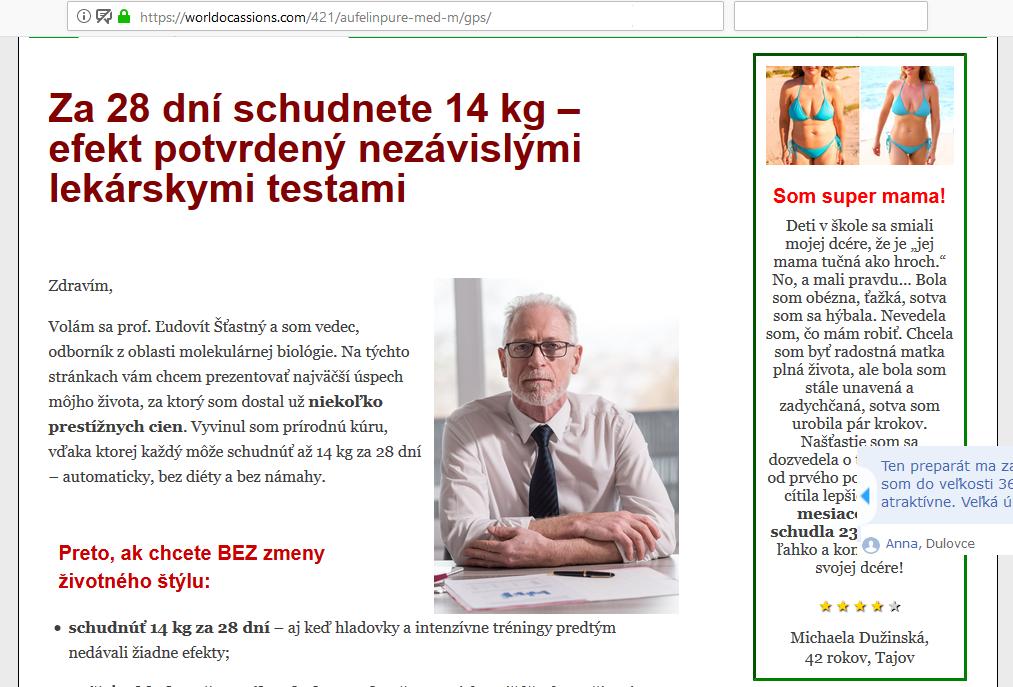 Podvod Aufelin Pure ve slovenštině