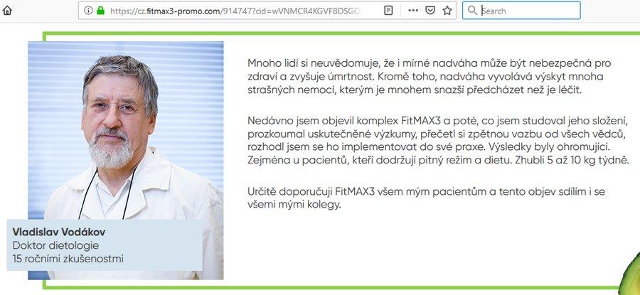 Podvodná reklama na FitMAX3 v češtině – recenze, cena