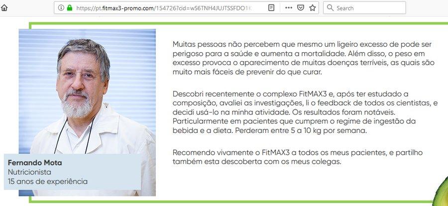 Podvodná reklama na FitMAX3 v portugalštině – recenze, cena