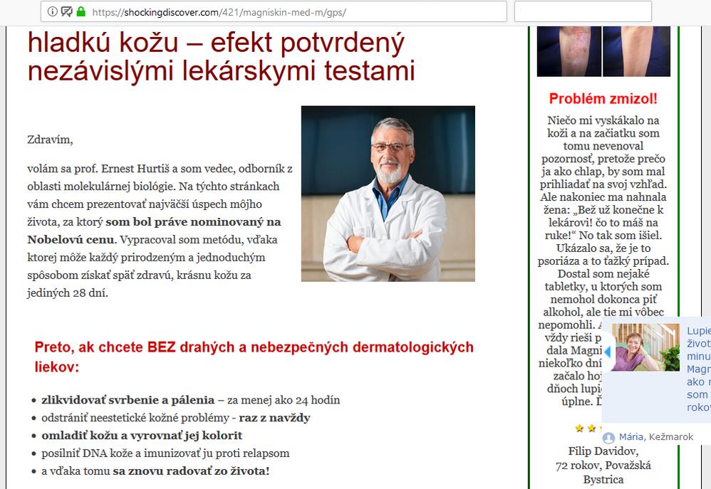 Podvod Magniskin ve slovenštině