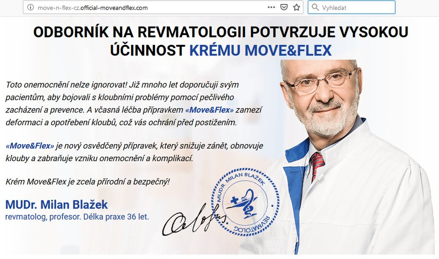 Krém Move Flex - česká reklama