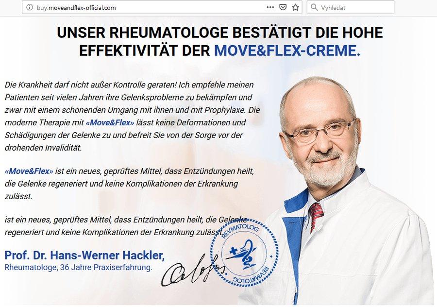 Krém Move&Flex - německá reklama