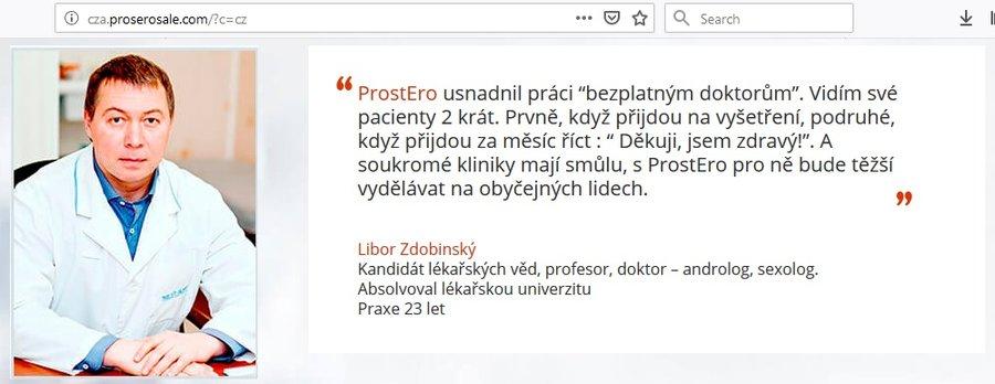 ProstEro - cena, recenze, diskuse