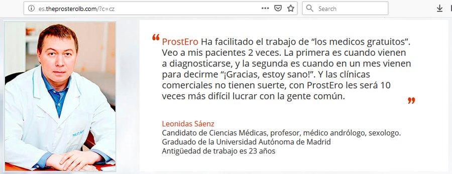 Reklama na ProstEro ve španělštině