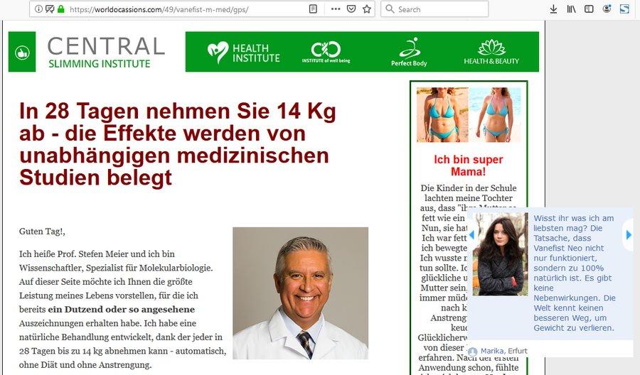 Německá reklama na Vanefist Neo - recenze, cena, diskuse