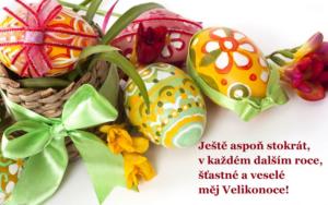 Velikonoční přání ke stažení + malovaná vajíčka